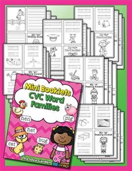Mini Booklets - CVC Word Families