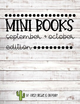 Mini Books-September and October Edition