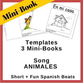3 Mini-Books   Song Animales   Short + Fun Spanish Beats