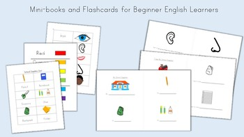 Mini-Books and Flashcards for Beginner English Learners