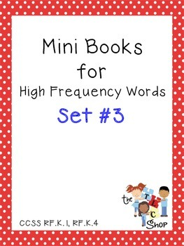 Mini Books for High Frequency Words Set #3