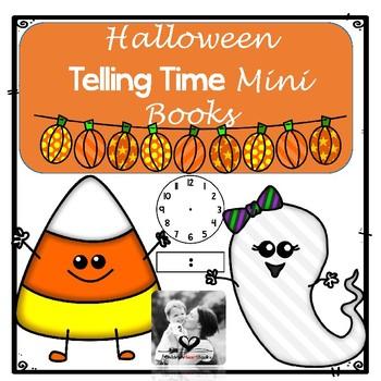 Math Mini Books- Telling Time Halloween