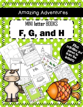 Mini Books to Teach Letters F, G and H