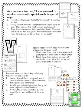 Mini Books V, W, X, Y and Z games, activities, writing