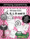Mini Books with Beginning Short Sound A, E, I, O, U, games, writing, activities