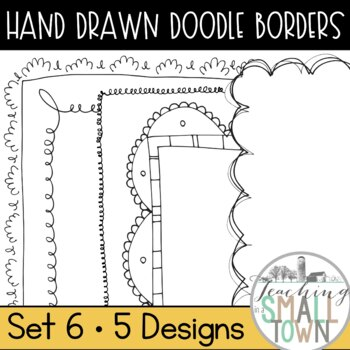 20 Doodle Border Frames // Mini Set #6 //  Personal and Commercial Use