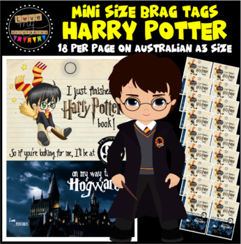 """Mini Brag Tags - Harry Potter - A3, 18pp - """"I Just Finished a Harry Potter Book"""""""