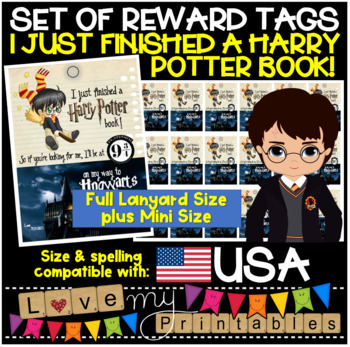 """Mini Brag Tags - Harry Potter, """"I Just Finished a Harry Potter Book"""" Tabloid, 18"""
