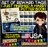 I Did That! Tags, 'I Just Finished A Harry Potter Book' Set/Packet