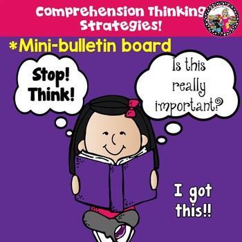 Mini Bulletin Board for Comprehension!  Strategies & Thinking Stems!