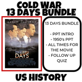 13 Days Cold War Cuban Missile Crisis 1960's  Writing Activity BUNDLE US History