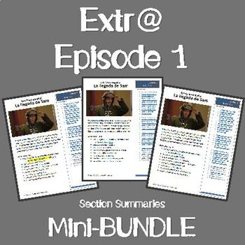 Mini-Bundle: Extr@ Episode 1 ALL Section Summaries plus picture talk