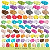 Mini Bundle Lego Bricks Clipart