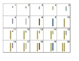 Mini Calendar Cards - Montessori Bead Stair