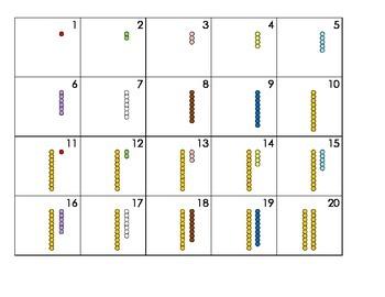 Mini Calendar Cards - Montessori Bead Stair