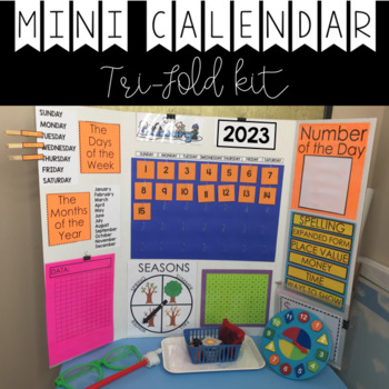 Mini Calendar Display (Trifold Presentation Board)
