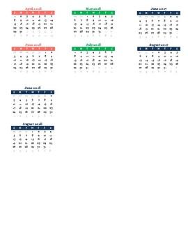 Mini Calendars for Erin Condren Planner