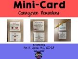 Mini-Card Articulation Carryover Reminders