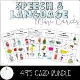 Speech and Language Mini Cards Bundle