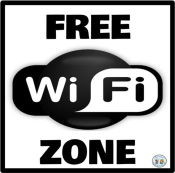 Zona Wifi Gratis * Free Wifi Zone * Azul/Blue: Mini Poster