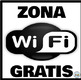 Zona Wifi Gratis * Free Wifi Zone Dorado y Negro * Gold & Black: Mini Poster