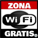 Zona Wifi Gratis * Free Wifi Zone Rojo y Negro * Red & Black: Mini Poster