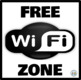Zona Wifi Gratis * Free Wifi Zone Rojo y Negro * Red & Black: Mini Poster