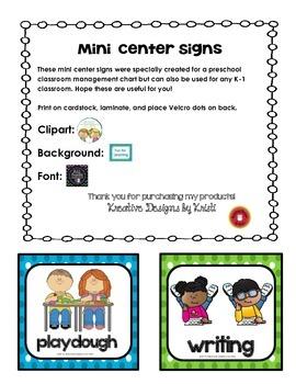Mini Center Signs