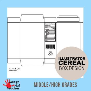 Mini Cereal Box Adobe Illustrator CC for Middle/High School Grades