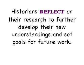 Mini Chart and Steps for Writing a Powerful Social Studies Reflection