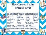 Mini - Chevron Center Rotation Cards - Blue