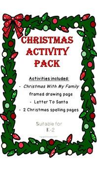 Mini Christmas Activity Pack K-2