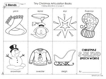 Mini Christmas Speech Booklets