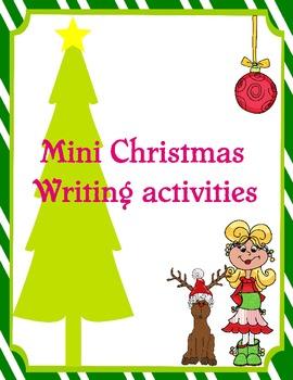 Mini Christmas Writing Activities