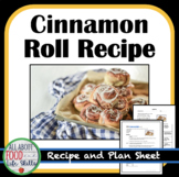 Mini Cinnamon Roll Lab & Plan Sheet