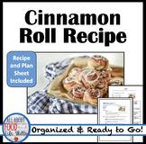 Mini Cinnamon Roll Lab & Plan Sheet