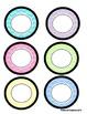 Mini Circle Name Tags - Pastel Chevron