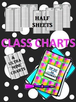 Mini Class Charts: Grading or Check List #3  (30 Students)