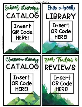 Mini Classroom Library:  Setup, Templates, and Labels {EDITABLE NATURE THEME}