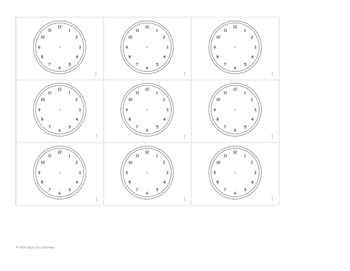 Mini Clock Flip Book