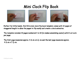 Mini Clock Flip Book