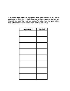 "Mini Close Read Reference ""Pocket"" Chart"