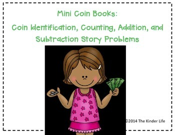 Mini Coin Booklets: Coin Identification, Counting, Addition, and Subtraction