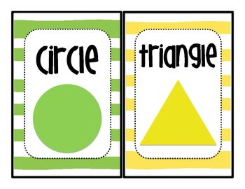 Mini Color, Shapes, and Numbers Posters