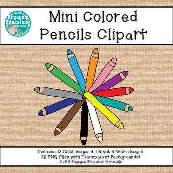Mini Colored Pencils Clipart