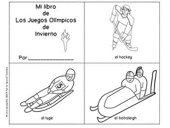 Mini-Coloring Book: Los Juegos Olímpicos de Invierno