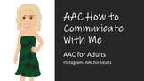 AAC How to Communicate with Me Flip Book