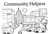Mini Community Helpers Book to make