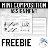 Mini Composition Assignment with Staff Paper
