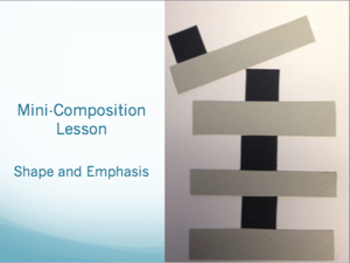 Elements of Art Unit - Mini-Compositions Bundle: Line - Shape - Emphasis